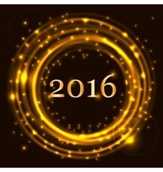 Happy New Year 2016 celebration concept vector image
