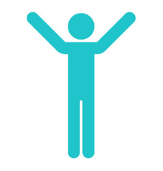man sign raised hands vector image vector image
