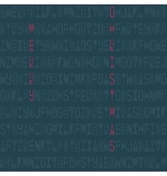 Modern seamless pattern with linear letters vector image