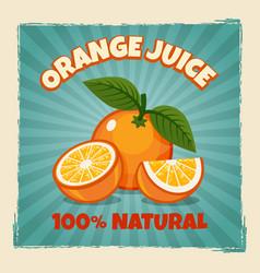 orange fruit vintage poster vector image