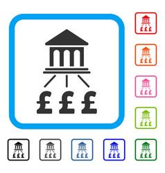 pound bank scheme framed icon vector image vector image