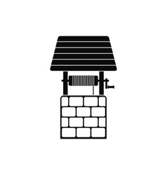 Draw well icon vector image