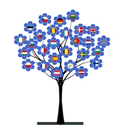 European Union tree vector image vector image