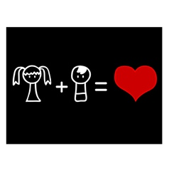 Love mathematics vector image vector image