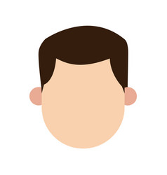 man brunette faceless people character image vector image vector image