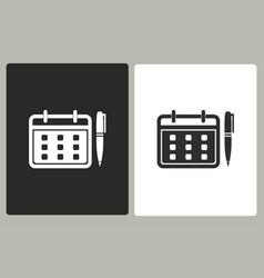 planning calendar - icon vector image