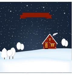 winter wonderland night snow scene vector image