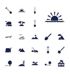 22 landscape icons vector