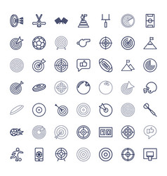 49 goal icons vector