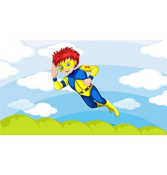A superman in sky vector