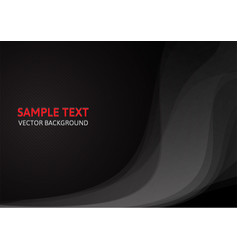abstract black concept design template background vector image