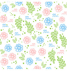 abstract floral fabric seamless pattern vector image