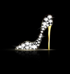 abstract jewel shoe vector image vector image