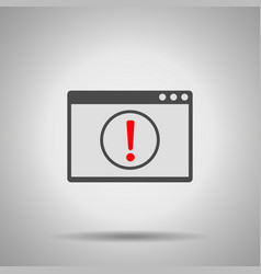 Alert window icon vector