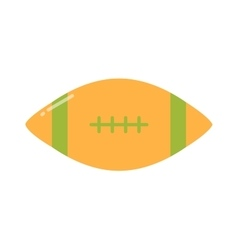 American football rugby game sport equipment vector