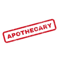 Apothecary Text Rubber Stamp vector