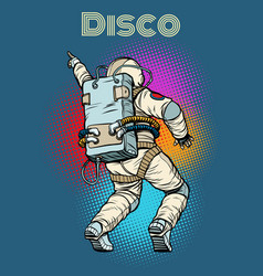 Astronaut dancing disco vector