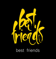 Best friends lettering vector