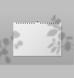 blank wall calendar empty planner front view vector image