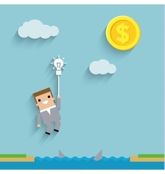 business like a game on blue vector image