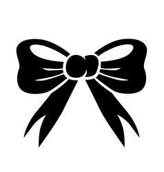 carton bow icon vector image