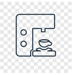 coffee maker concept linear icon isolated on vector image