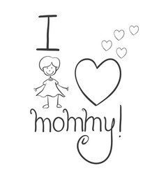 collection mother day hand draw vector image
