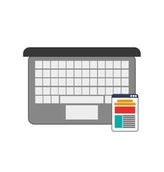 Computer and cellphone webapge icon vector