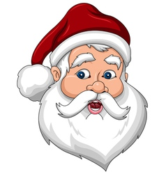 Confused Santa Claus Face Side View vector
