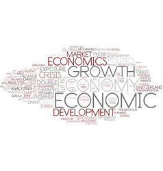 Economic word cloud concept vector