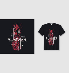Endless summer t-shirt and apparel modern design vector