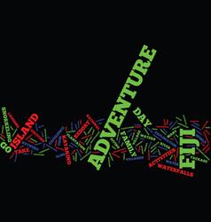 fiji adventure text background word cloud concept vector image