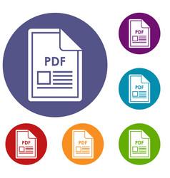 File pdf icons set vector