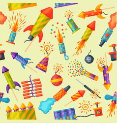 Fireworks rocket and flapper birthday party gift vector