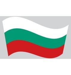 Flag of Bulgaria waving vector image