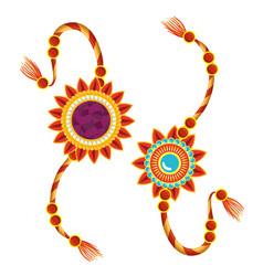 Flowers decoration bracelet tradition event vector