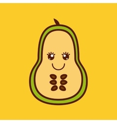 fruit character design vector image