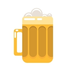 Glass of beer cartoon vector image
