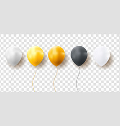 glossy balloons on transparent background vector image