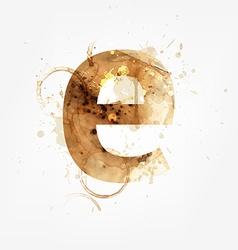 Grunge Font vector