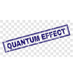 Grunge quantum effect rectangle stamp vector