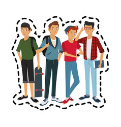 Handsome young men icon image vector