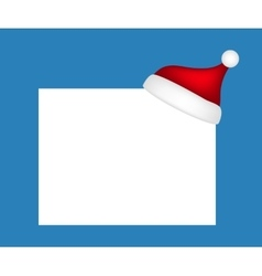 Hat of santa claus with a blank banner vector