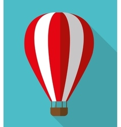 Hot air balloon graphic icon vector image