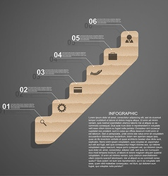 Infographic in the form of steps staircase design vector image