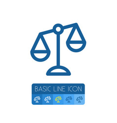Isolated court outline balance element can vector