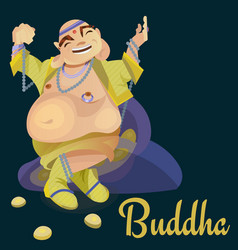 Isolated indian gods buddha meditation in yoga vector