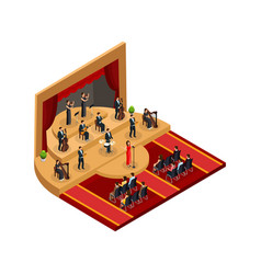 isometric classical opera performance concept vector image