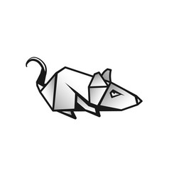 Linear rat as a symbol chinese new year vector
