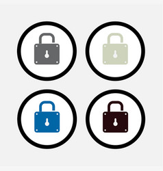 lock icon safety vector image